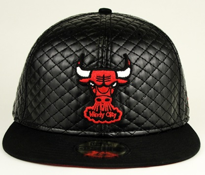 Buy Mens Chicago Bulls Leather Fitted Hats