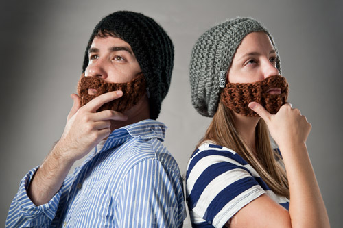 Cute And Cool Beard Knit Hats