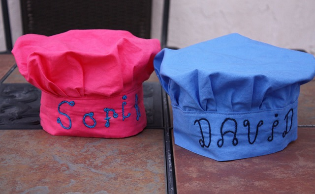 Cute Embroidered Chef Hats for Kids