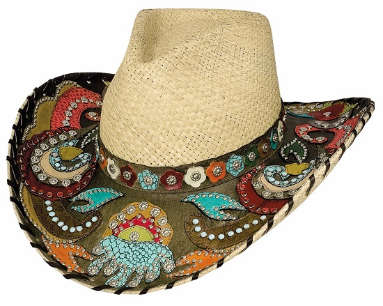 Colorful Western Straw Hats