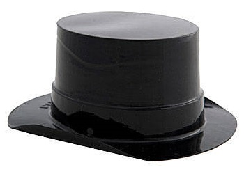 Buy Black Cheap Mini Top Hats