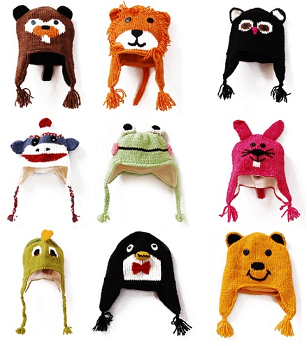 Kids Animal Winter Hats