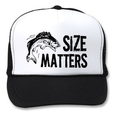Size Matters Funny Fishing Hats