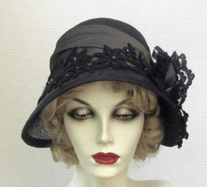 elegant black vintage hats for women