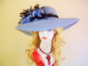 fashionable big hats for women
